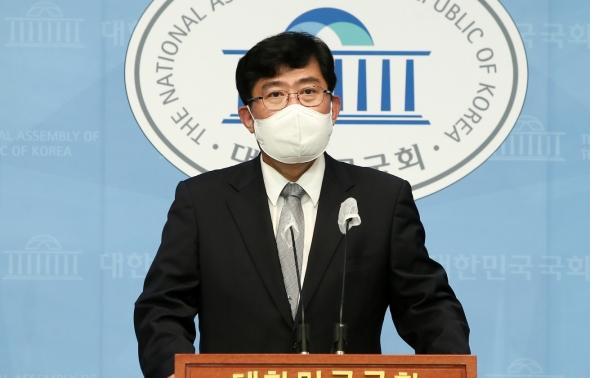 국민의힘 윤창현 의원 기자회견