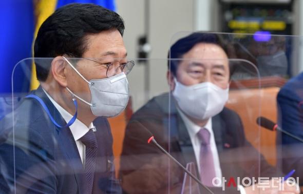 송영길, 김기문 회장과 간담회